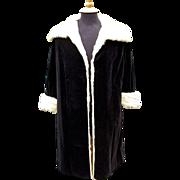A 1957 Christian Dior Haute Couture No 806401 Black Velvet and Ermine Opera Coat