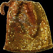 Whiting Davis Gold Mesh Small Drawstring Purse Bag P1 - Red Tag Sale Item