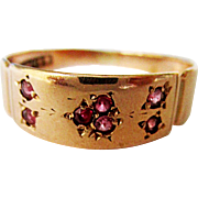 Beautiful 10K Rose Gold Ruby Victorian Ring