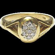 Beautiful 18K Yellow Gold Diamond Ring