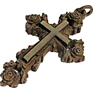 Very Neat Gutta Percha Memorial Cross
