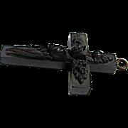 Very Nice Gutta Percha Memorial Cross