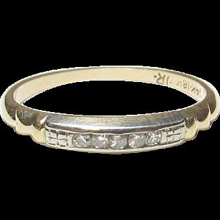 Very Nice 14K Yellow Gold & 18K White Gold Diamond Ring