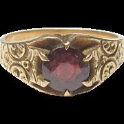Wonderful 10K Yellow Gold Garnet Ring