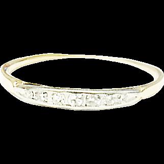 Simply Beautiful 14K Yellow & White Gold Diamond Ring