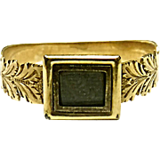 Very Neat 10K Yellow Gold Mourning Hair Ring