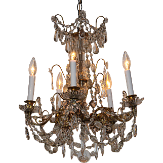A nineteenth Century crystal chandelier