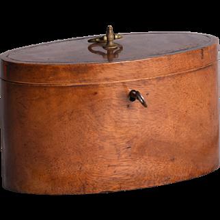 A George III mahogany tea caddy