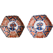 A pair of 19th century Imari plates