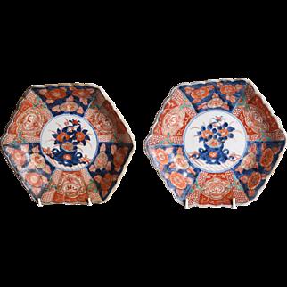 A pair of 19th century Imari plates