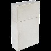 Vintage c1928 Sterling Silver Match Safe/ Box, English Hallmarked, Unmonogrammed
