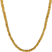 Natural Golden Yellow Citrine Choker Necklace - Sparkly Faceted 5mm-5.5mm Beads