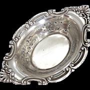 Vintage Sterling Silver Pierced Gorham Cromwell Pattern Bon Bon Dish