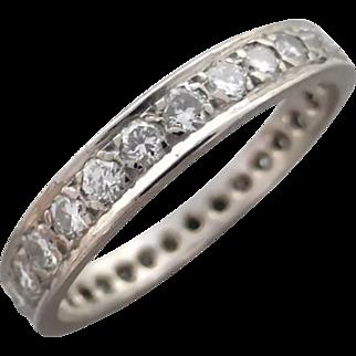 Vintage Diamond 0.56ct Full Eternity Wedding Band Ring, Graduated
