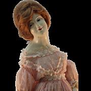 French Boudoir Doll Lamp