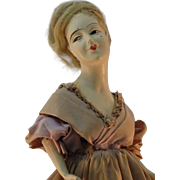 French Boudoir Doll Lamp