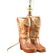 Vintage McCoy Cowboy Boots Lamp 1950s Atomic Fifties