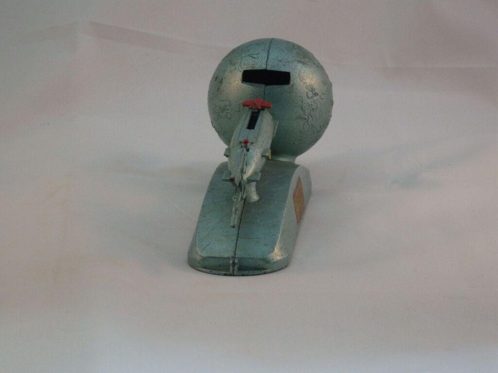Rare 1950s missile space rocket ship metal strato coin bank duro co sold on ruby lane - Rocket piggy bank ...