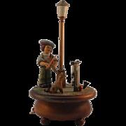 ANRI Hand carved Music Box with Thorens Swiss Movement