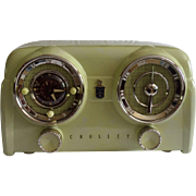 Repaired/Refurbished 1953 Crosley Tube Clock Radio Model DB-25 CE (Chartreuse) with Bluetooth receiver and cable included