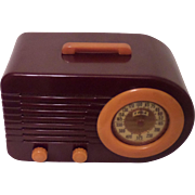 """Repaired/Refurbished 1945 FADA Catalin Tube Radio Model 1000 """"Bullet"""""""