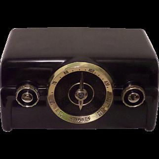 Repaired/Refurbished 1950 Crosley Tube Radio Model 10-136E (Black)