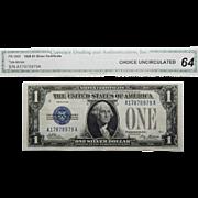 1928 CGA 64 Fr.1600 $1 Silver Certificate