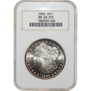 1885 Ngc MS66DMPL Morgan Dollar