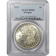1921 Pcgs MS65 Morgan Dollar