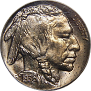 1936 Pcgs PR64 Type-1 Satin Buffalo Nickel