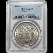 1899-O Micro O Pcgs AU55 Morgan Dollar