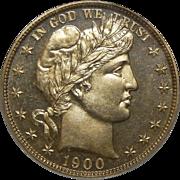 1900 Pcgs PR65 Barber Half Dollar