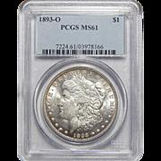 1893-O Pcgs MS61 Morgan Dollar