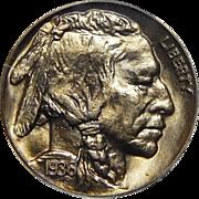 1936 Pcgs PR67 Satin Buffalo Nickel