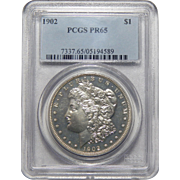 1902 Pcgs PR65 Morgan Dollar