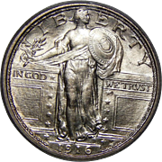 1916 Pcgs MS64FH Standing Liberty Quarter