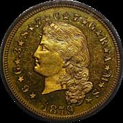 1879 Pcgs PR65DCAM $4 Flowing Hair Stella Gold