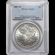 1887-O Pcgs MS65 Morgan Dollar