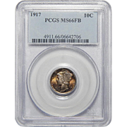 1917 Pcgs MS66FB Mercury Dime