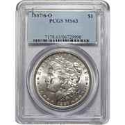 1887/6-O Pcgs MS63 Morgan Dollar