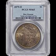 1879-O Pcgs MS65 Ray George Morgan Dollar