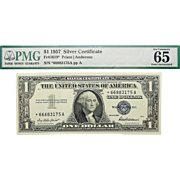 1957 PMG 65 $1 Silver Certificate Star Note Fr.1619*