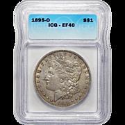 1895-O Icg XF40 Morgan Dollar