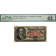 PMG 63 Fifth Issue 50c Fractional Currency Fr. 1381