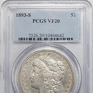 1893-S Pcgs VF20 Morgan Dollar