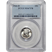 1944-D Pcgs MS67FB Mercury Dime