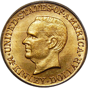 1916 Pcgs MS64 $1 McKinley Gold