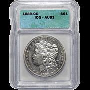 1889-CC Icg AU53 Morgan Dollar
