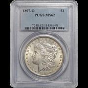 1897-O Pcgs MS62 Morgan Dollar