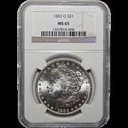 1883-O Ngc MS65 Morgan Dollar
